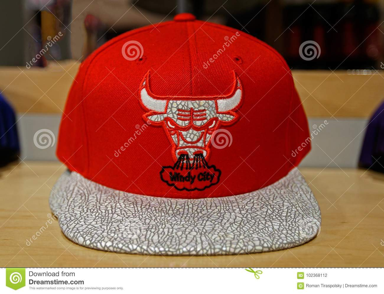 Chicago Bulls hat editorial photography. Image of store - 102368112 33f679294c9