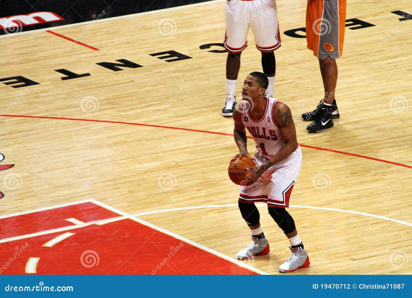 3a899e0576c Chicago Bulls MVP Rose Shoots A Free Throw Editorial Photography ...