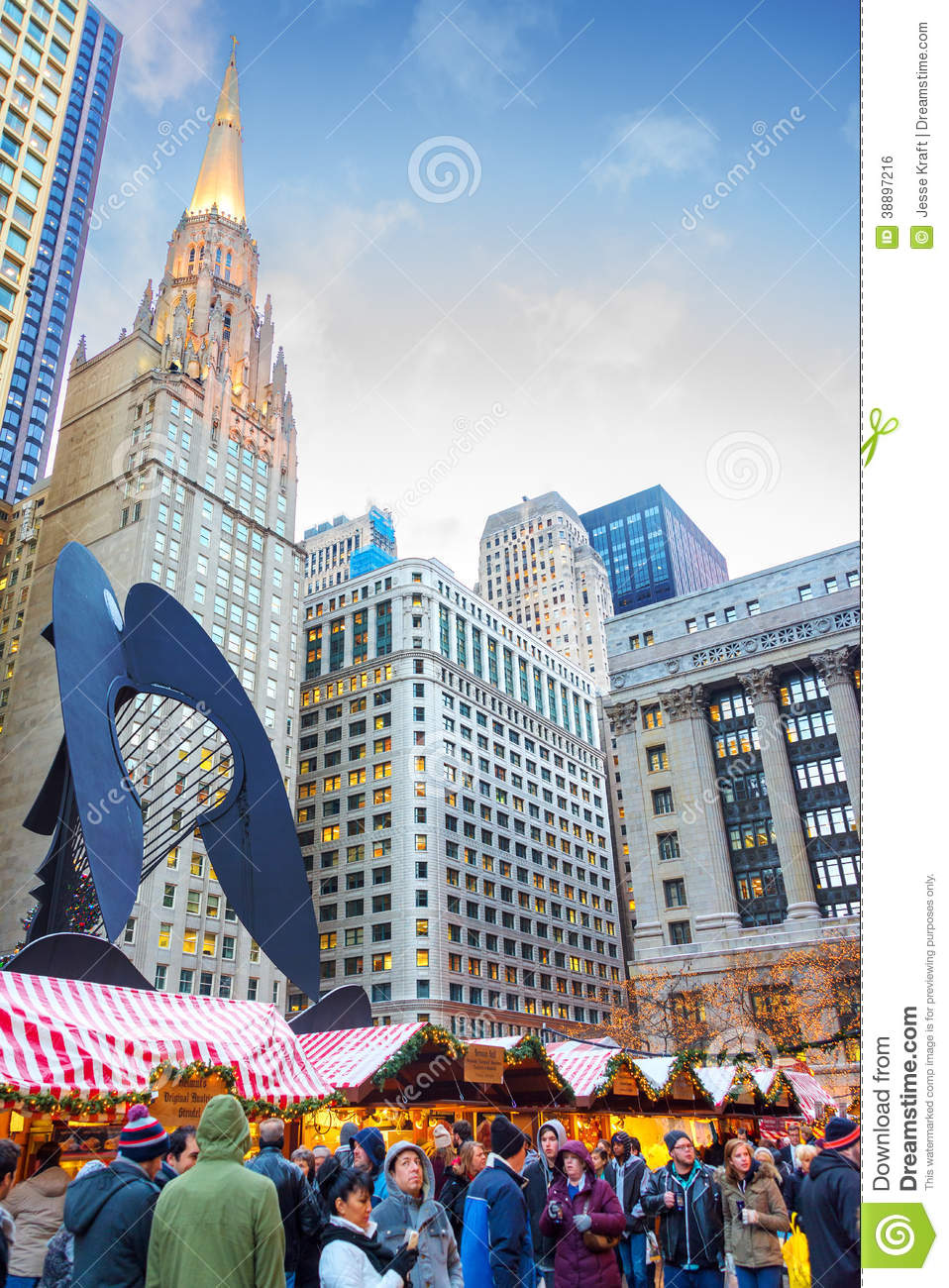 download chicago christmas market editorial photo image of markets 38897216 - Chicago Christmas Market