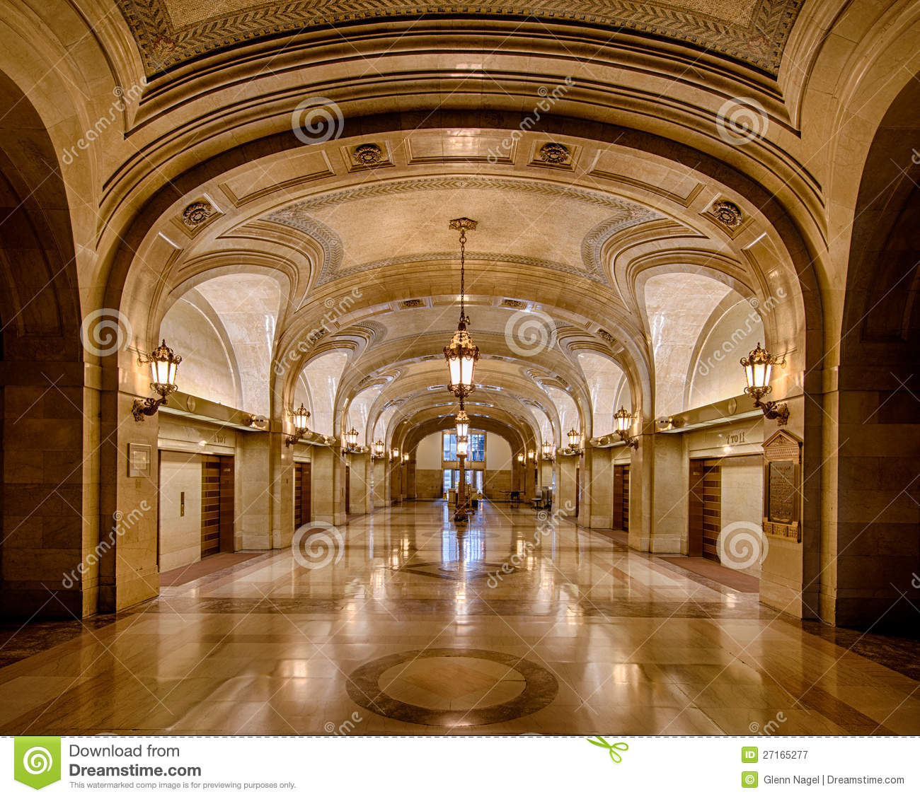 Chicago city hall stock image image of elevators nobody for Image city interiors