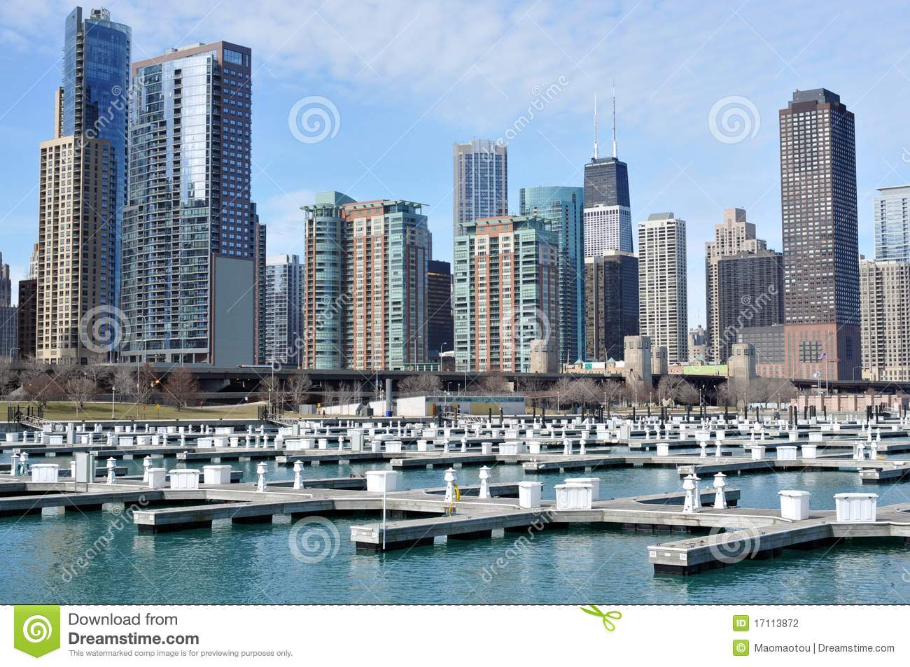 Chicago Cityview Apartment Buildings Stock Photography ...