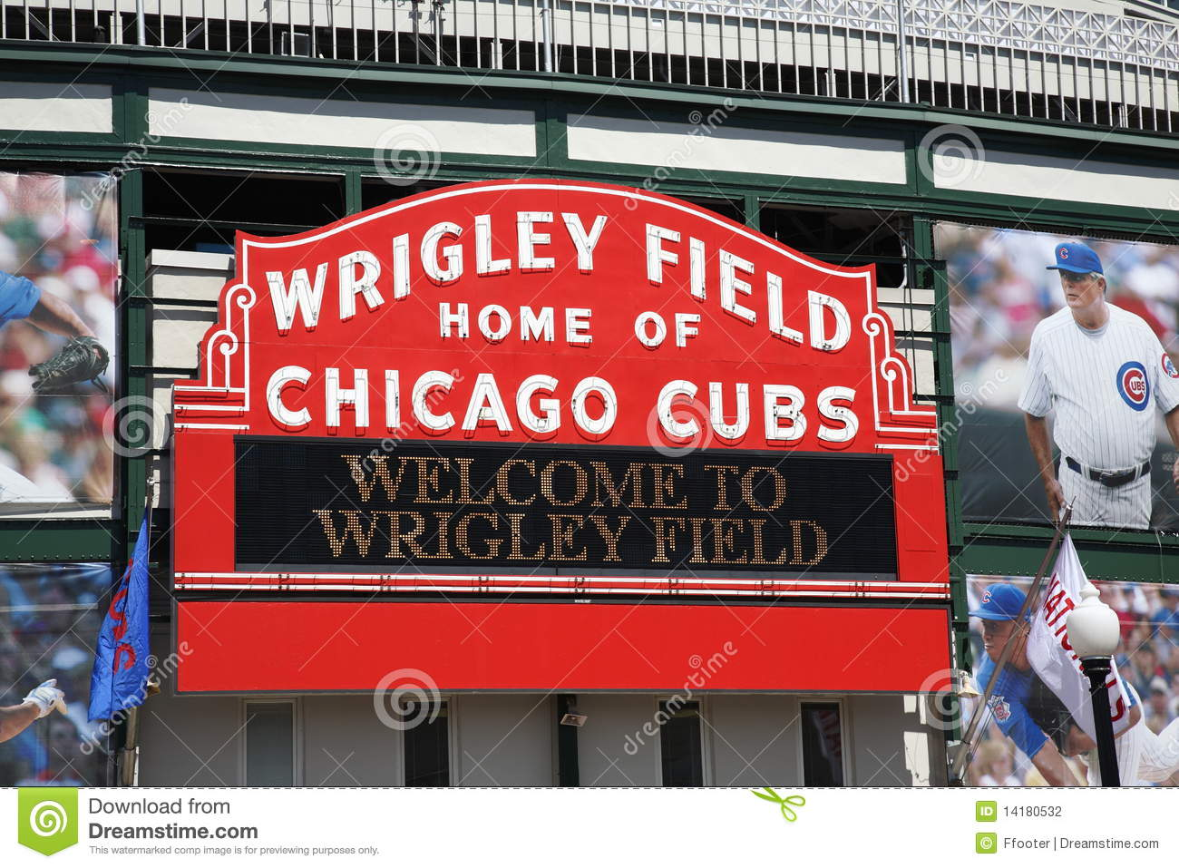 Chicago cubs поле wrigley