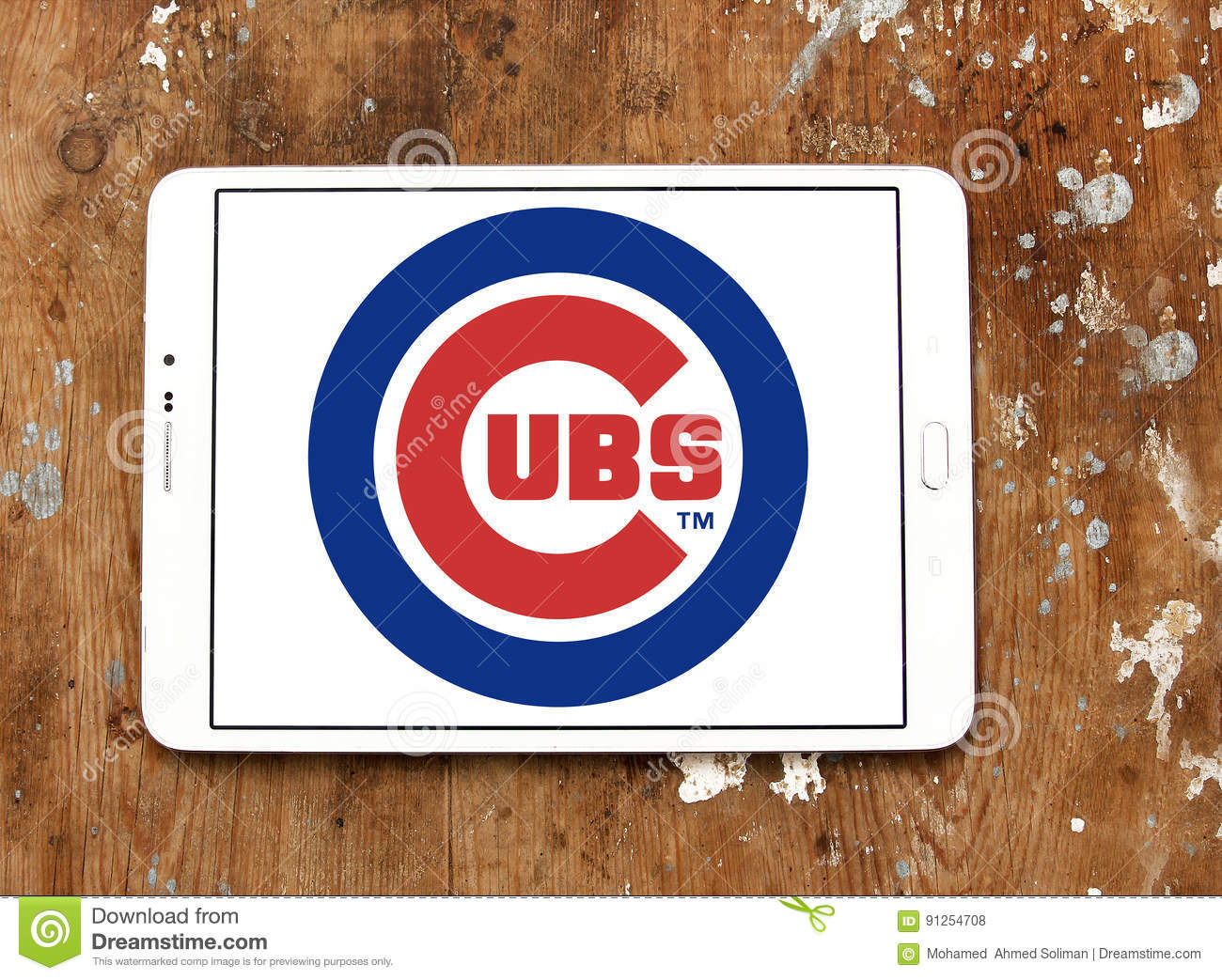 Chicago Cubs Baseball Team Logo Editorial Stock Photo Image Of
