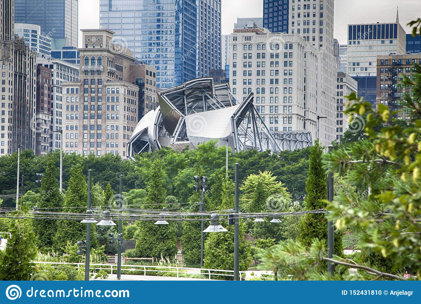Chicago de stad in in de zomer