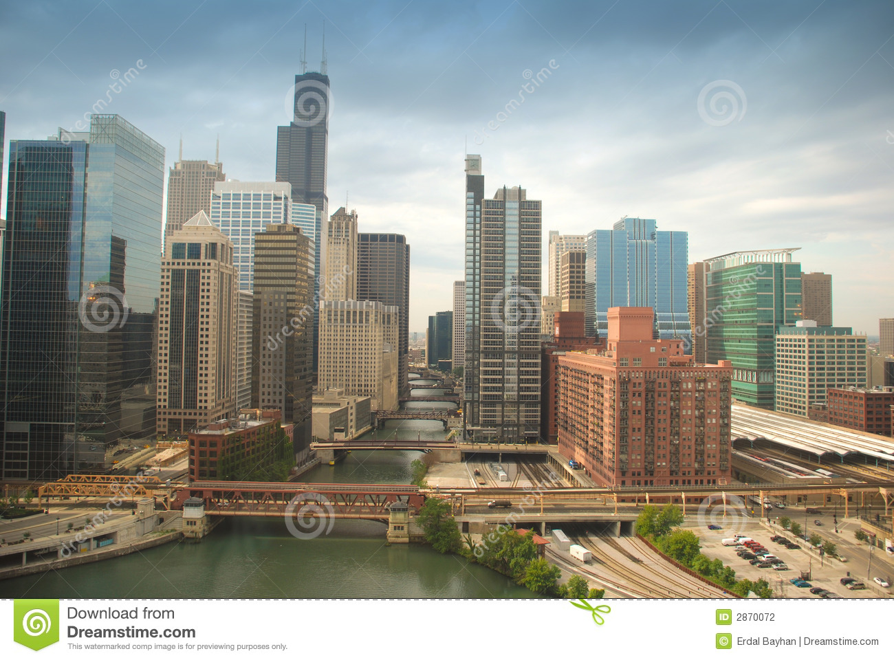 Download Chicago downtown stock photo. Image of landmark, chicago - 2870072