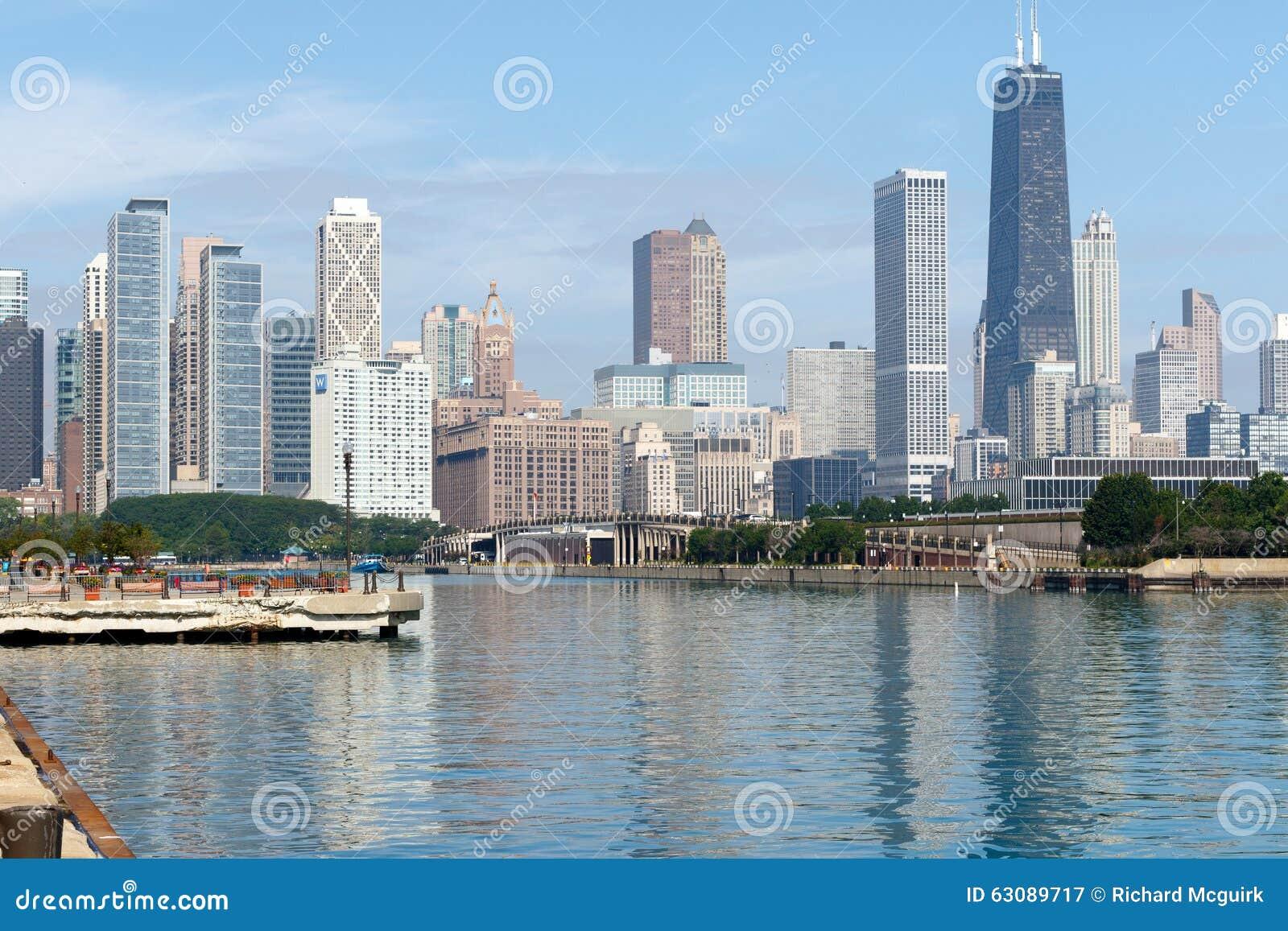 Download Chicago Du Centre, L'Illinois Photographie éditorial - Image du lakefront, copie: 63089717