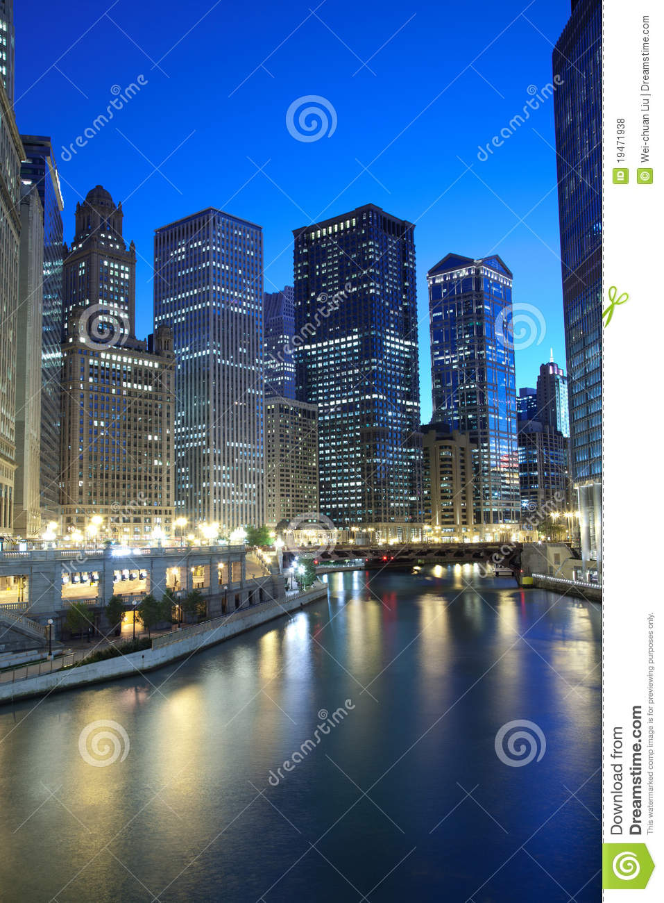 Chicago Financial District Royalty Free Stock Photos