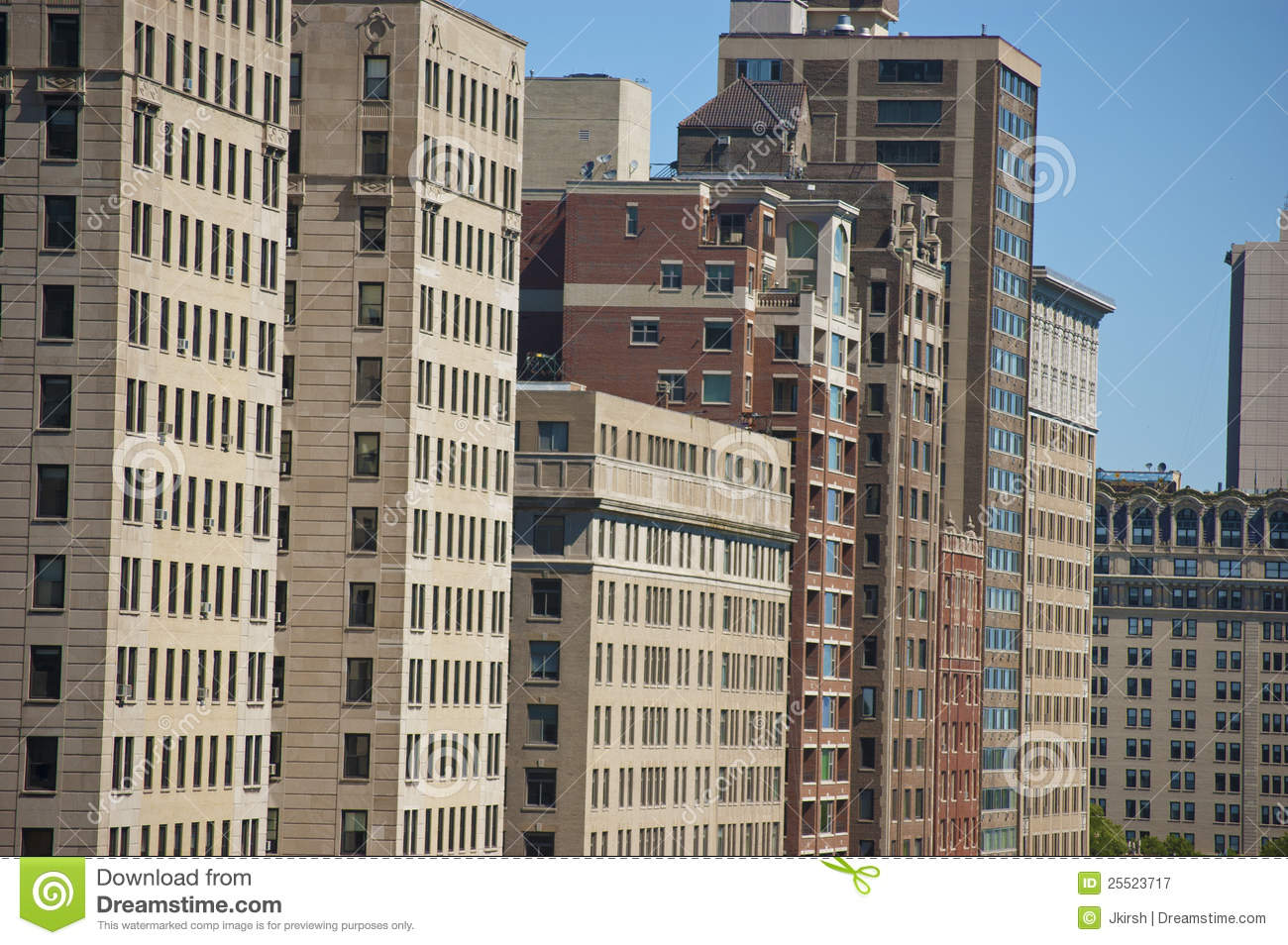 chicago high rise apartment buildings editorial photography image