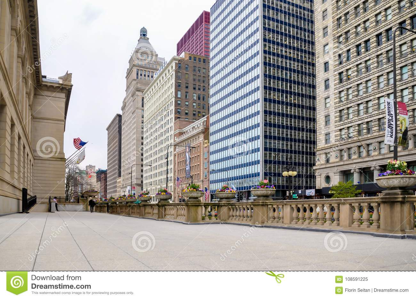 Chicago Il 5 De Mayo De 2011 Terraza De Art Institute