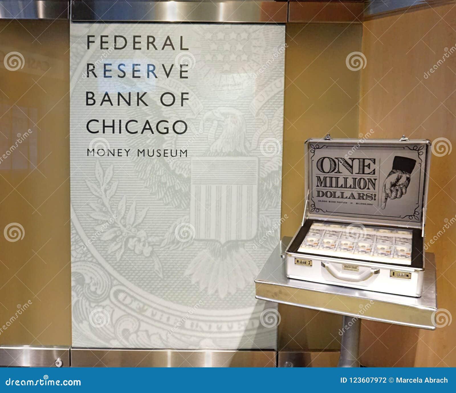 CHICAGO, IL, U S A , EL 25 DE MAYO DE 2018: Una vista de los un millón dólares representa la estación del museo del dinero
