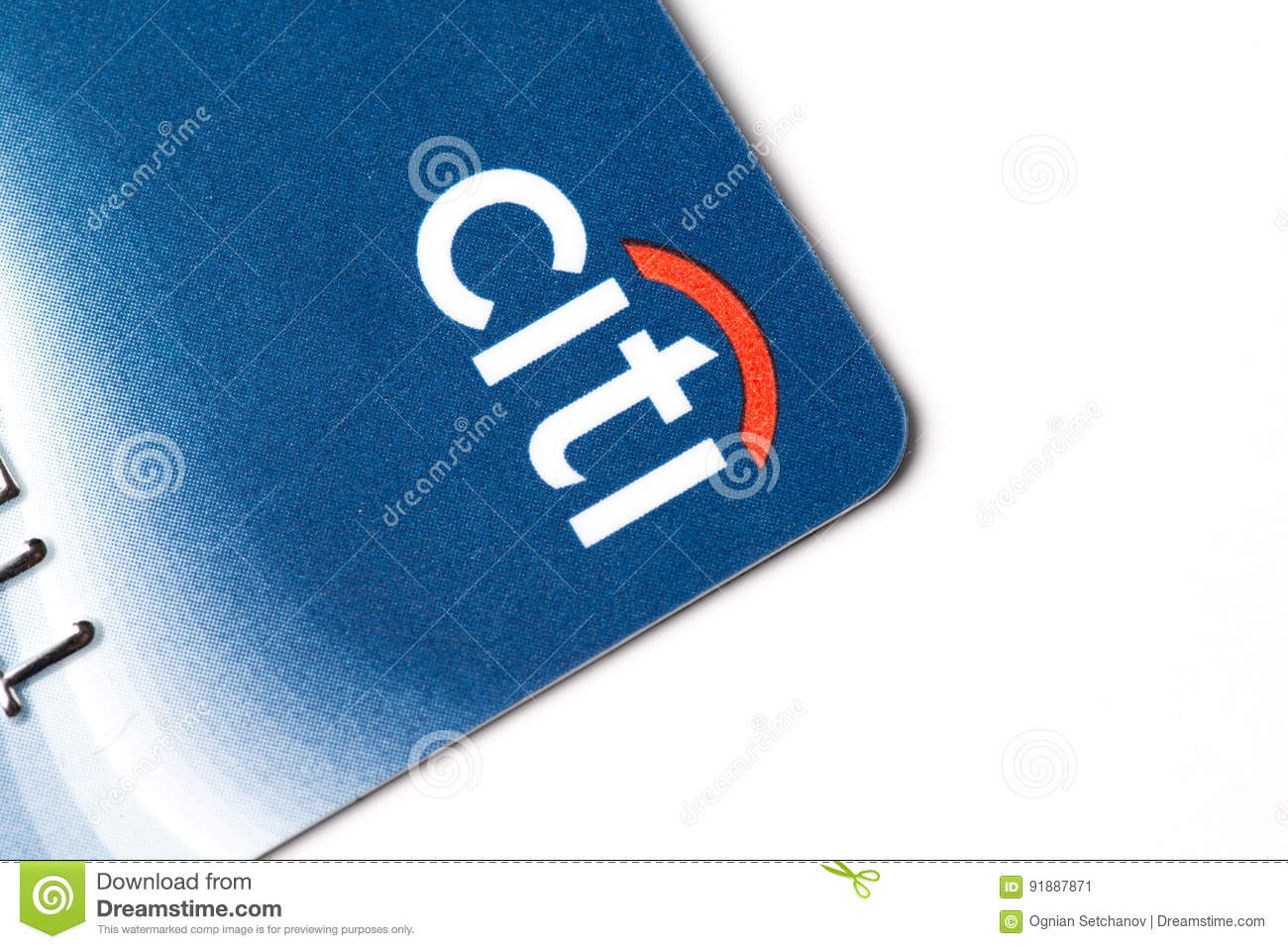 Chicago,IL,USA,Feb-12,2017,Close up of a Citi Credit Card for editorial use only
