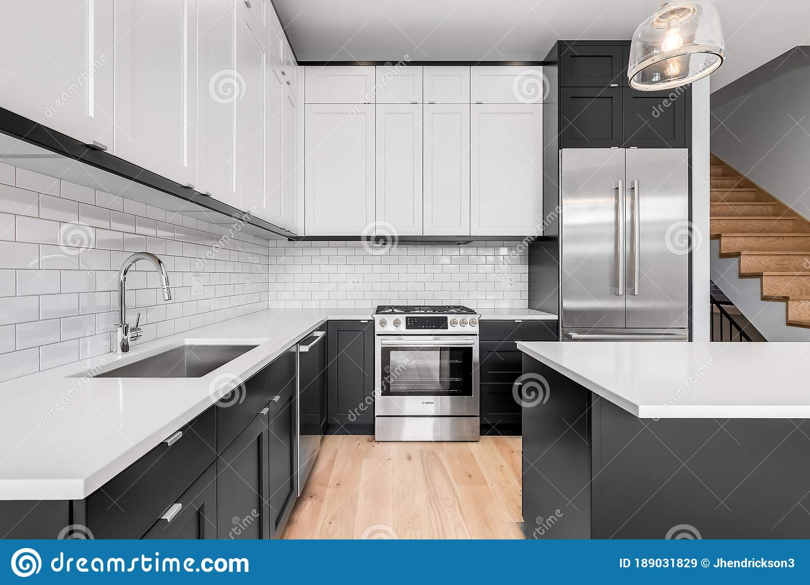 A Black And White Modern Kitchen Editorial Stock Image Of Expensive Building 189031829