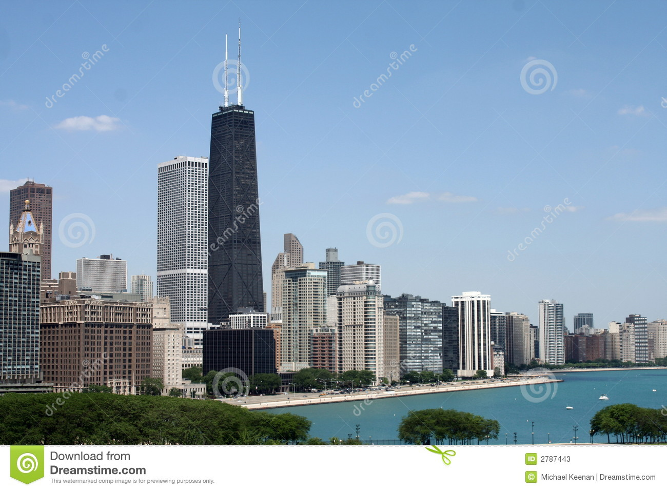 Chicago Lakefront Skyline Stock Photos - Image: 2787443