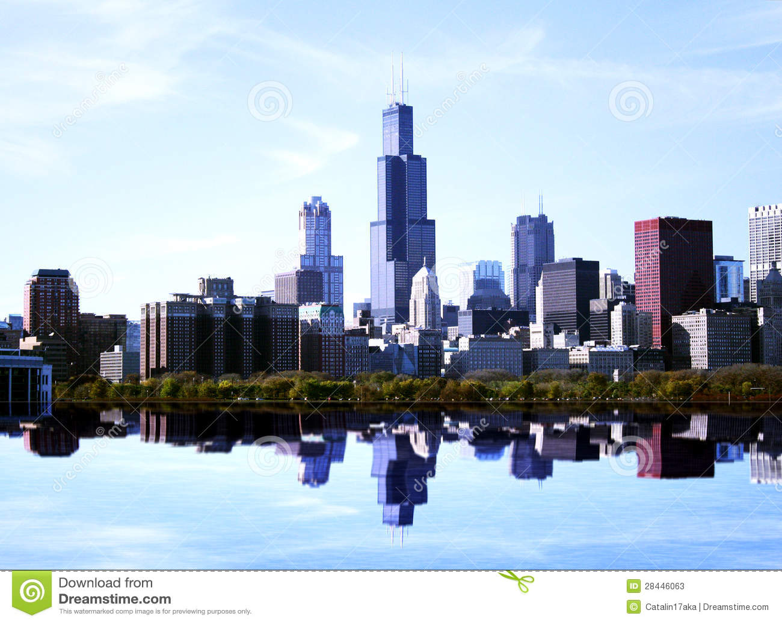 Chicago landscape stock photos image 28446063 for Chicago landscape