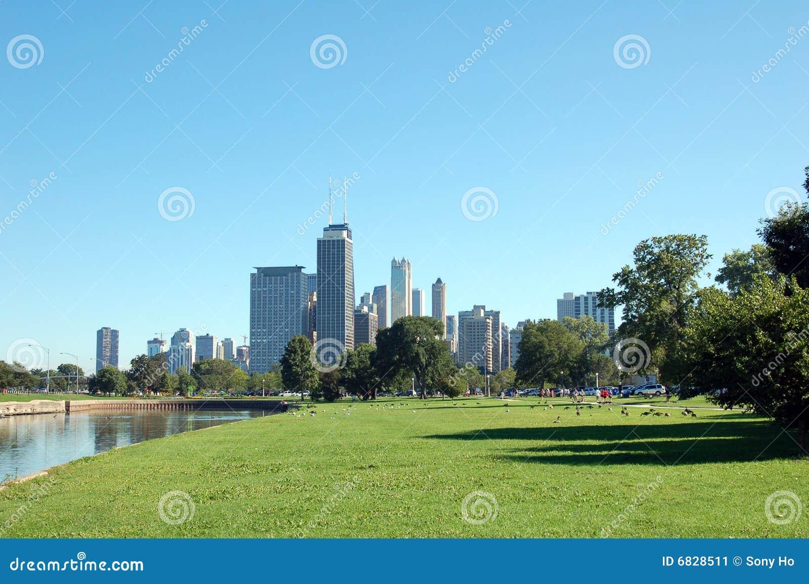 Chicago landscape stock image image 6828511 for Chicago landscape