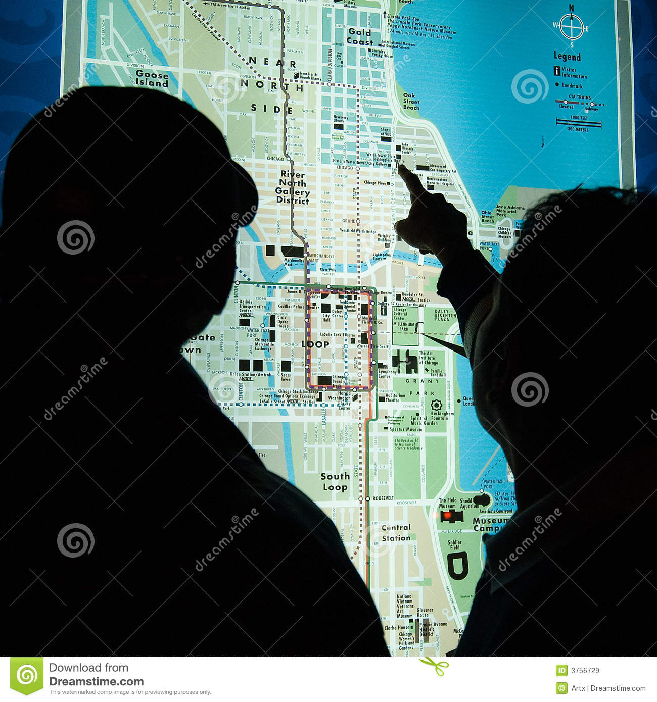 Chicago Map Royalty Free Stock Images