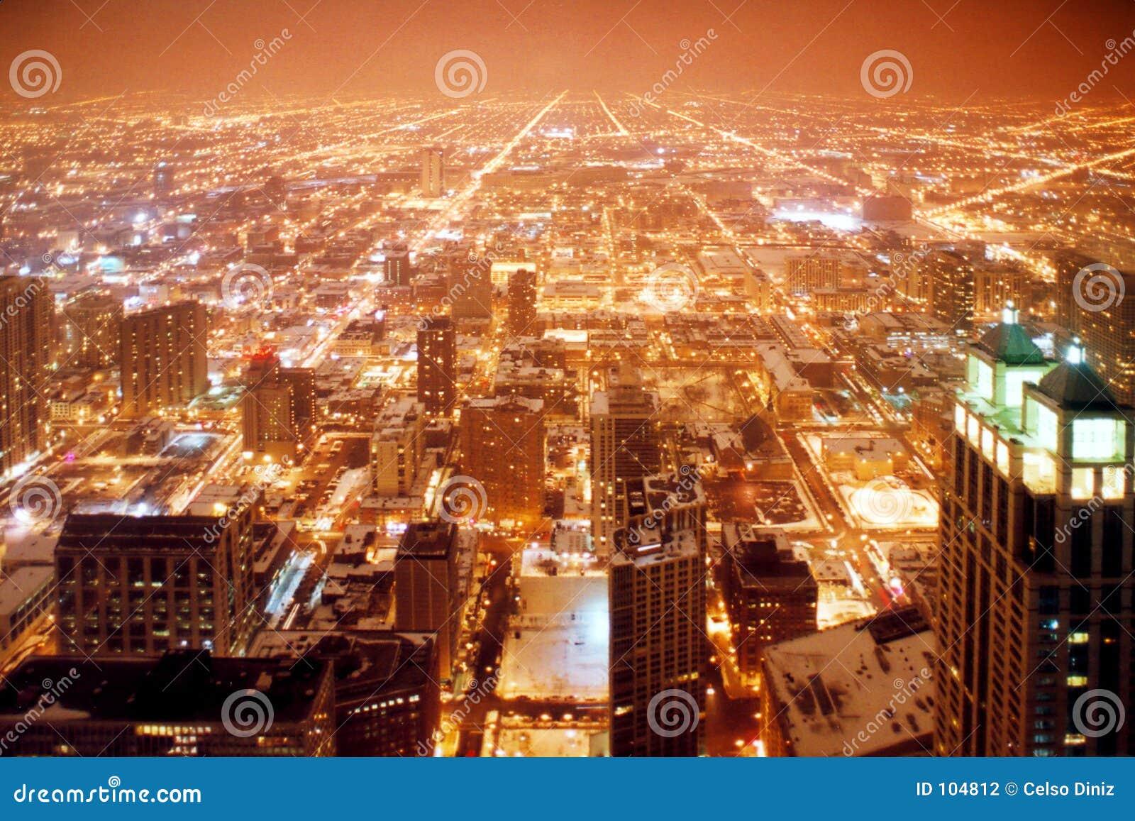 Cidade de Chicago na noite