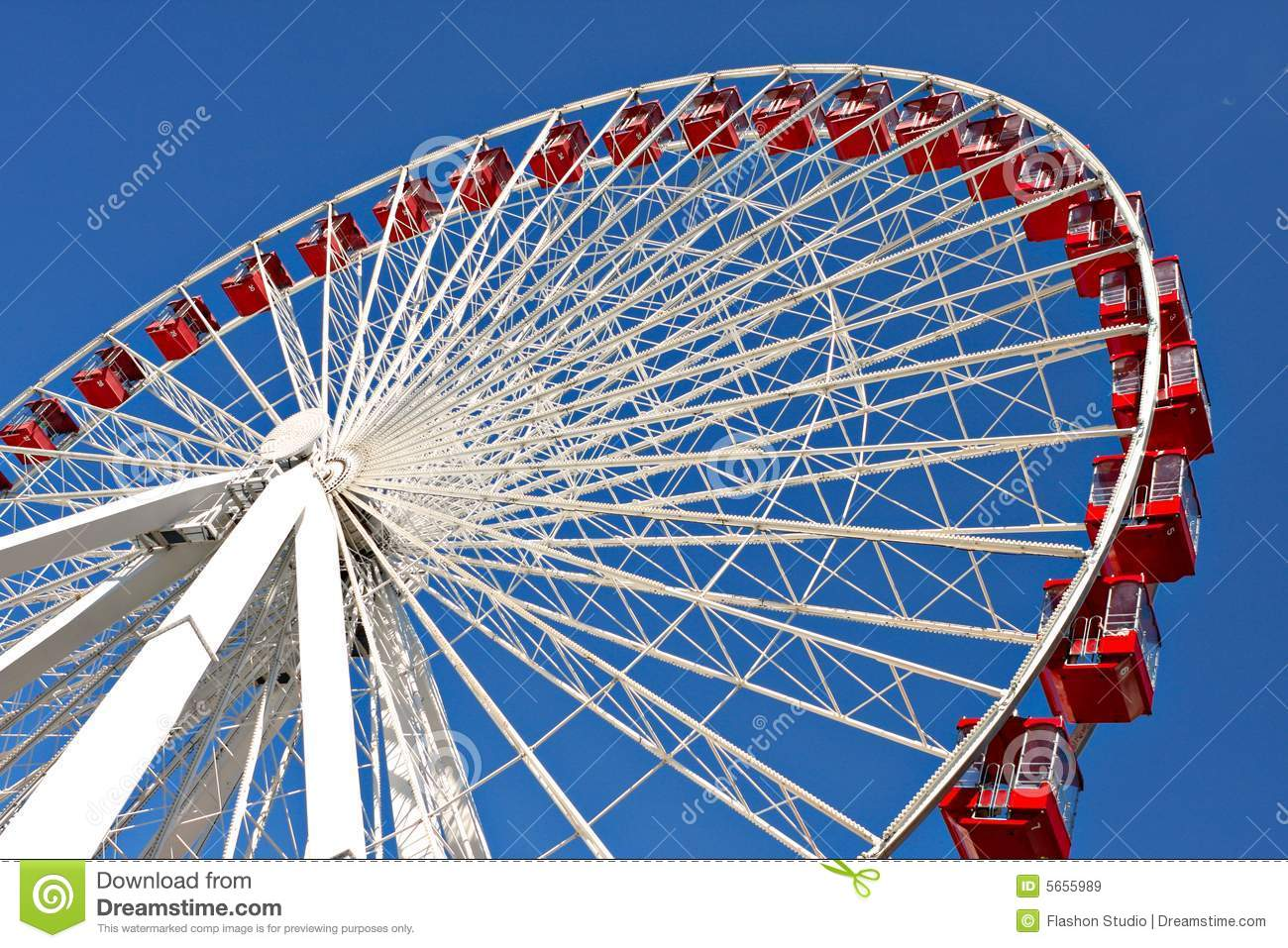 Royalty Free Stock Images: Chicago navy pier giant ferris wheel close ...