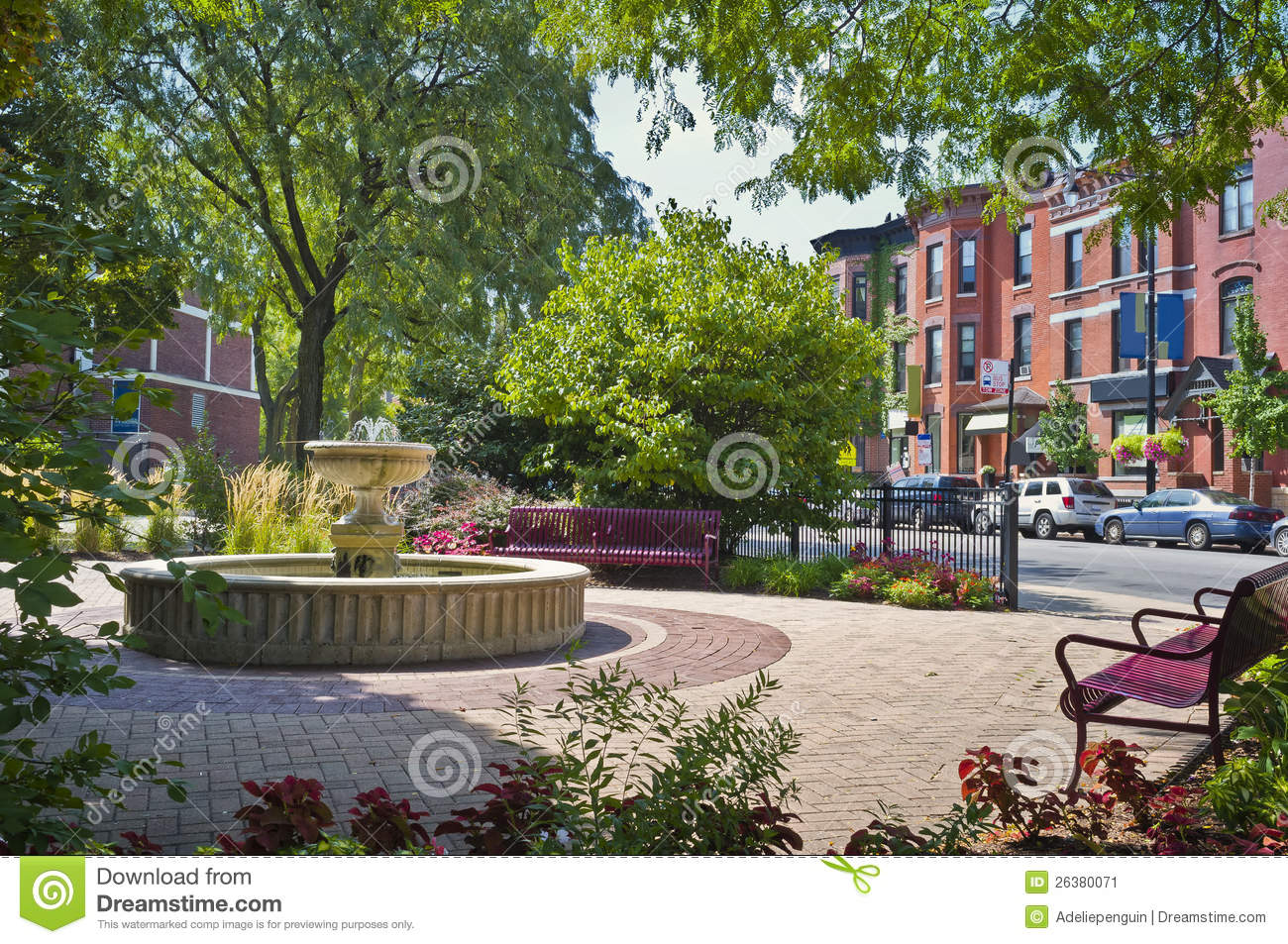 Chicago Neighborhood Park Illinois Stock Image Image