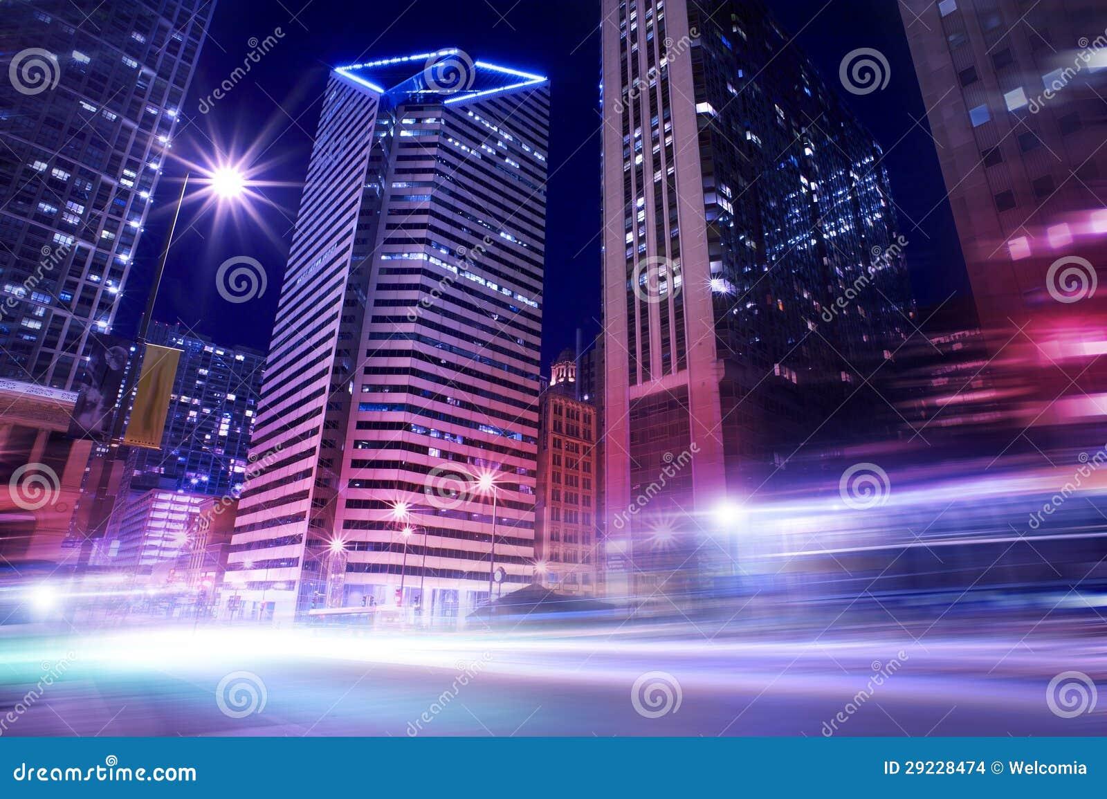 Download Chicago no movimento foto de stock. Imagem de skyscraper - 29228474