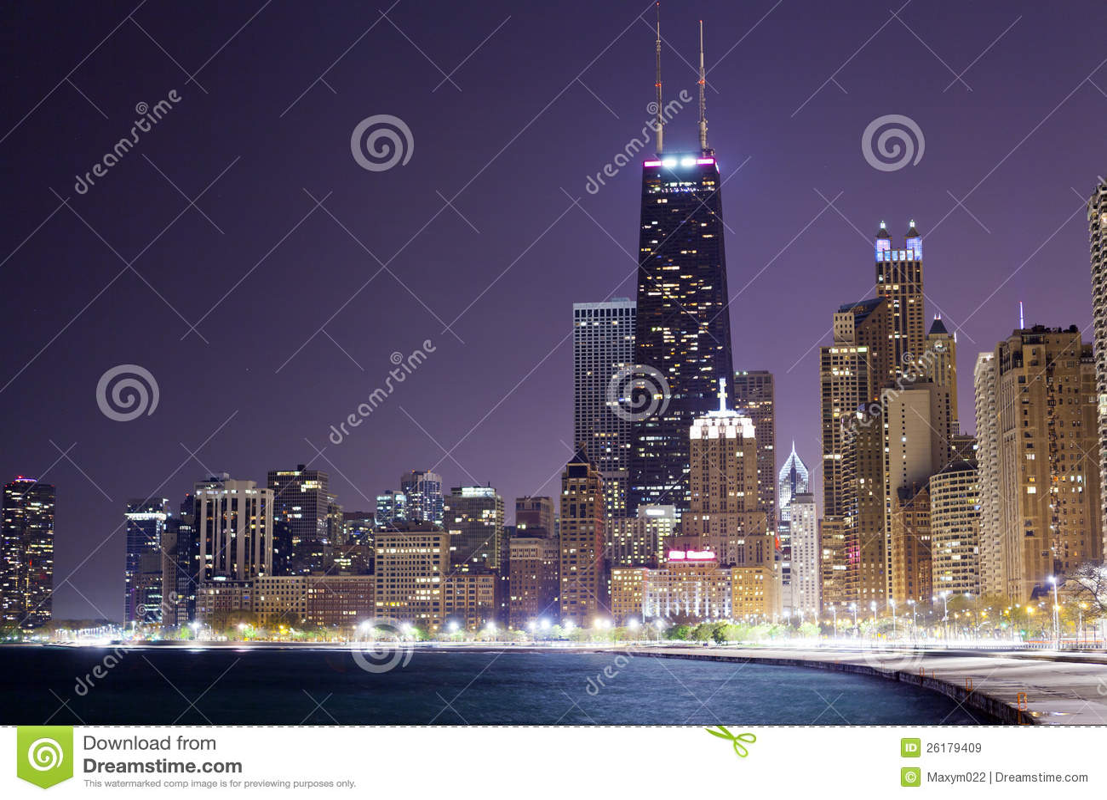Chicago przy noc