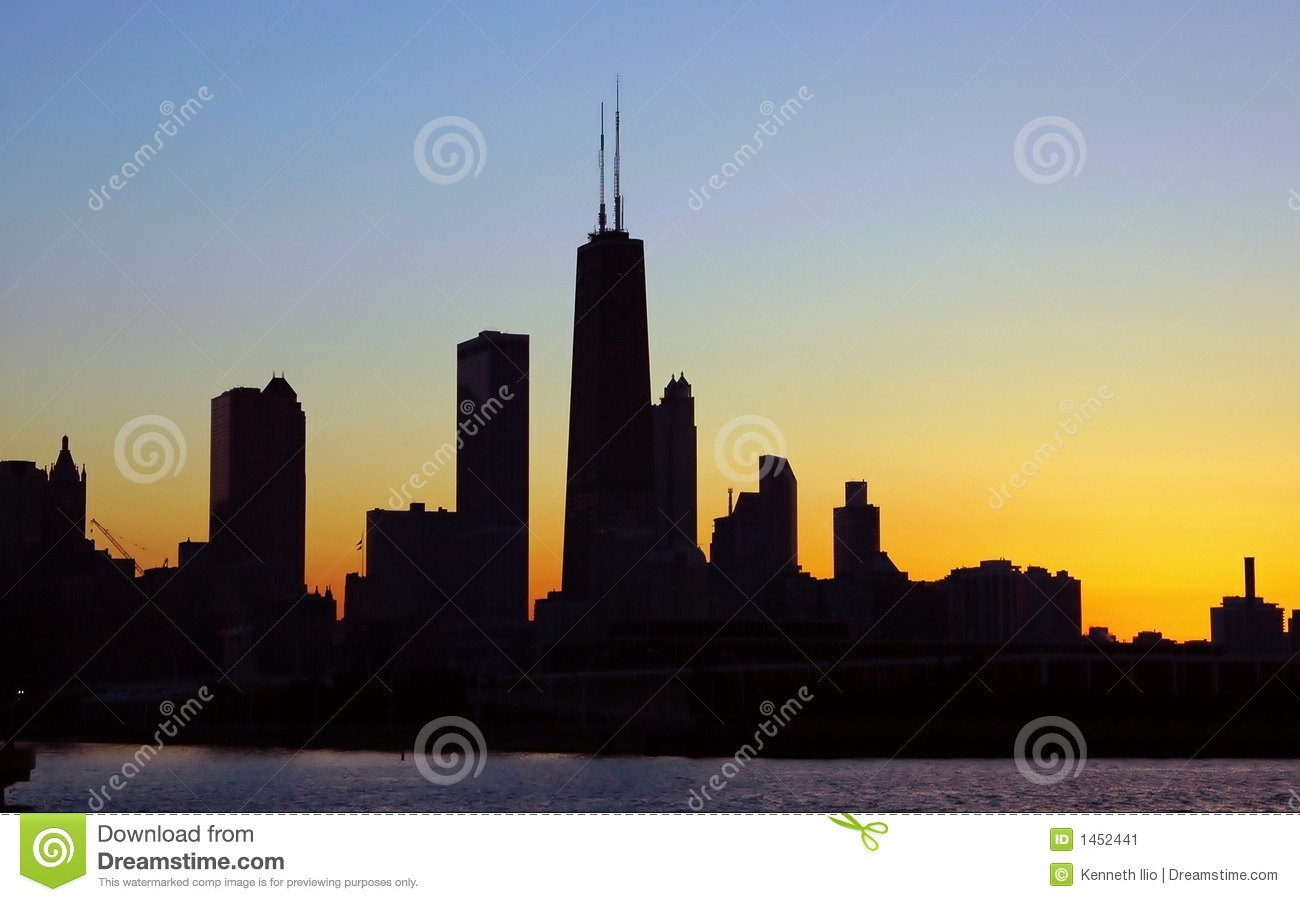 Chicago Silhouette Stock Image