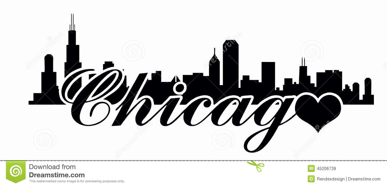 Chicago Skyline -Love Chicago Stock Vector - Image: 45206739