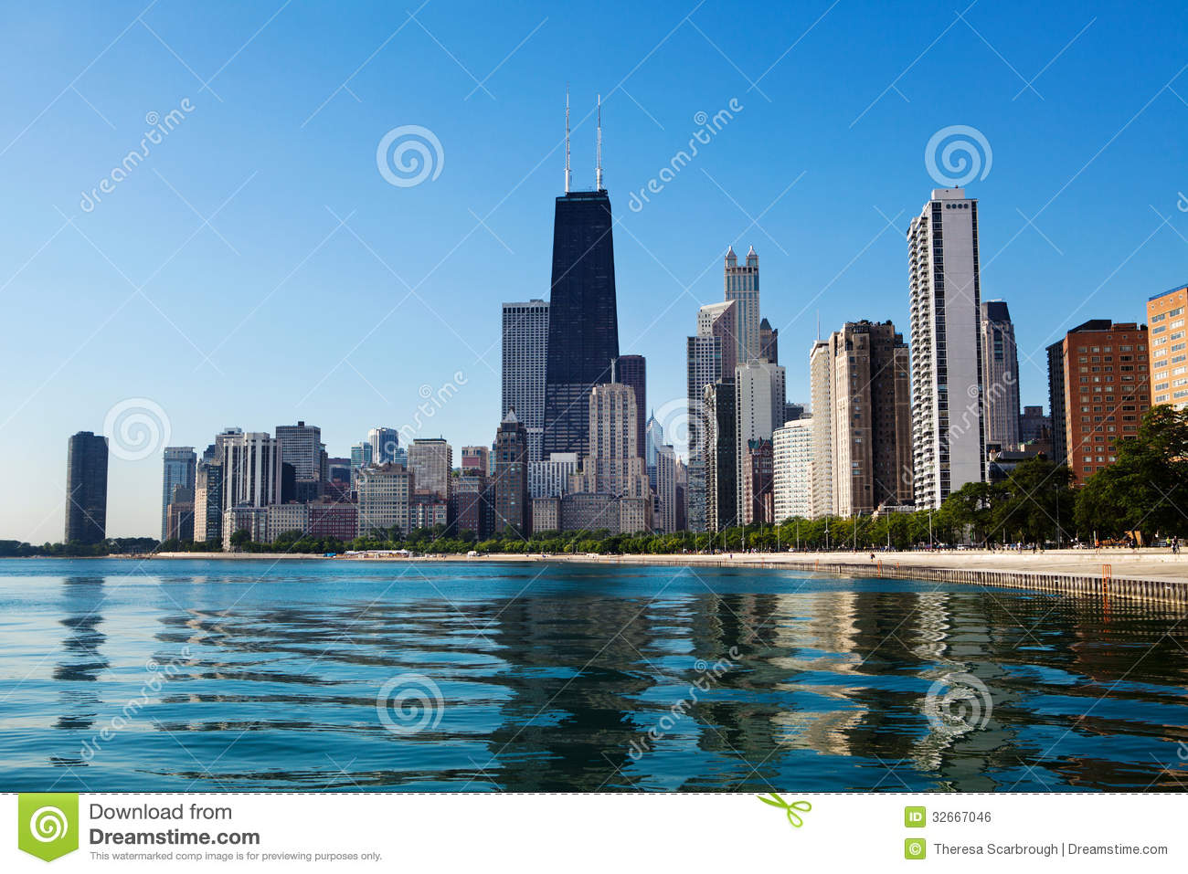 Chicago Skyline Royalty Free Stock Image Image - Chicago map north avenue beach