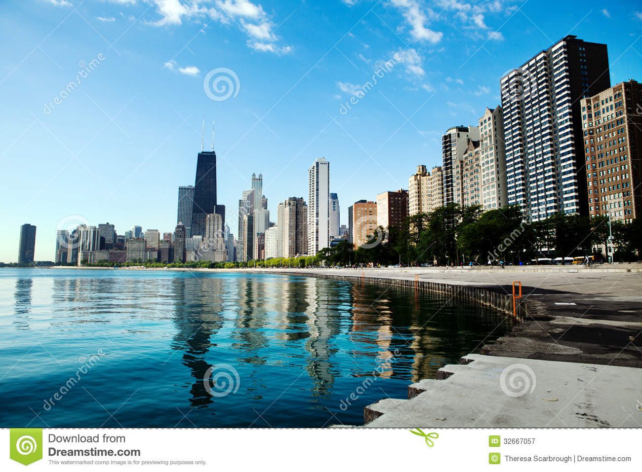 Chicago Skyline Royalty Free Stock Photography Image - Chicago map north avenue beach