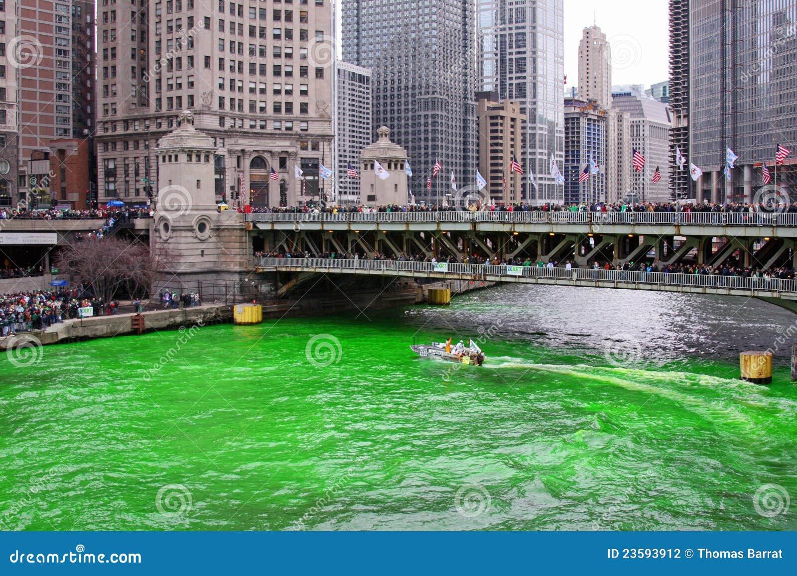 Chicago som färgar Green River