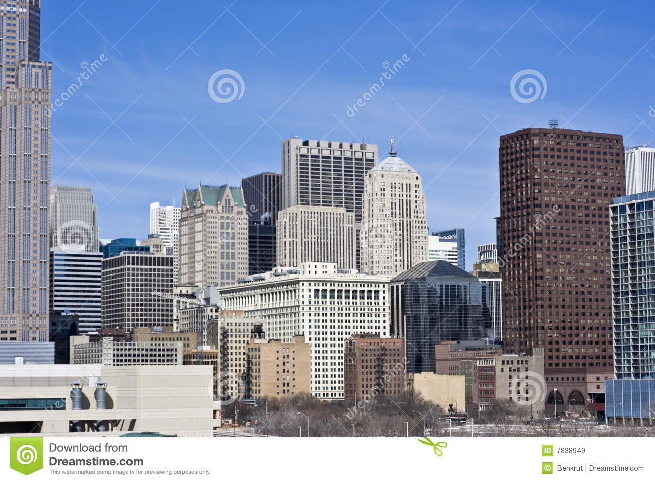 Chicago From The South Side Royalty Free Stock Images - Image: 7838949