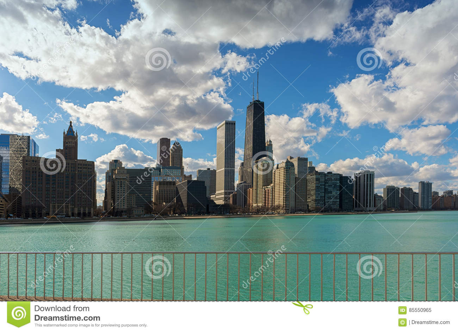 Chicago-Stadt-Skyline, Illinois, USA