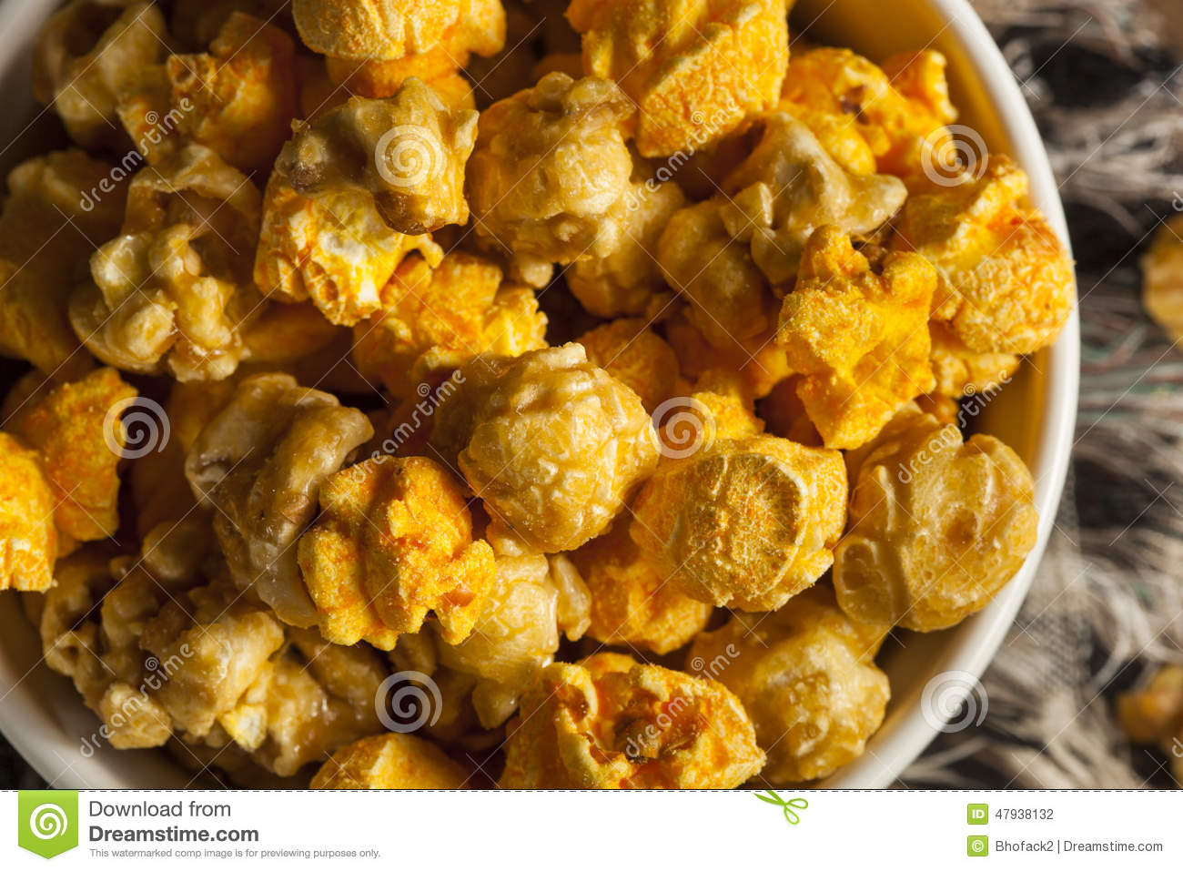 Chicago Style Caramel And Cheese Popcorn Stock Photo ...