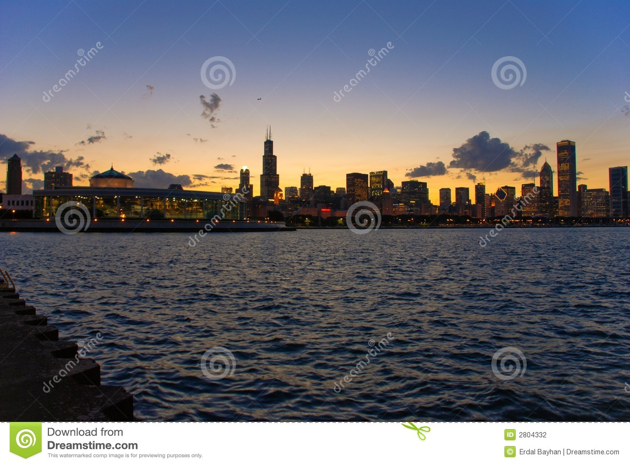 Download Chicago sunset stock photo. Image of financial, metro - 2804332