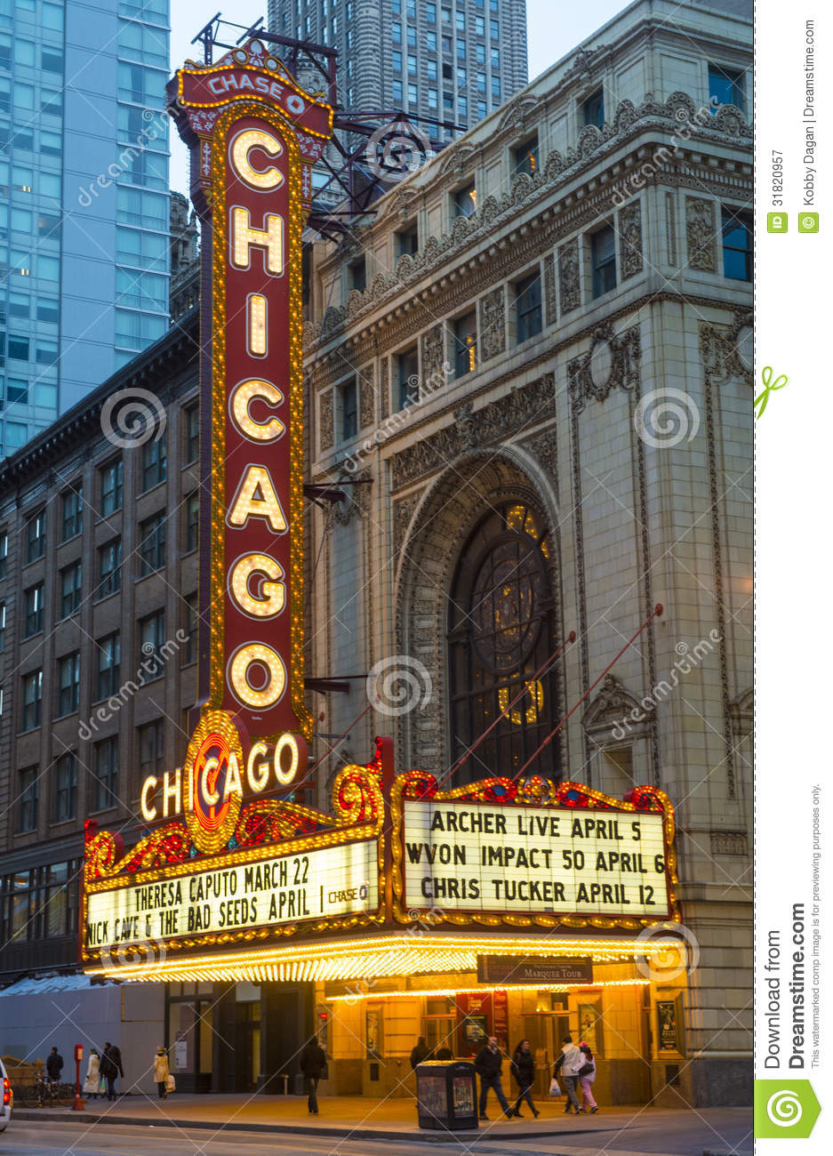 The Chicago Theatre Marquee Tour March
