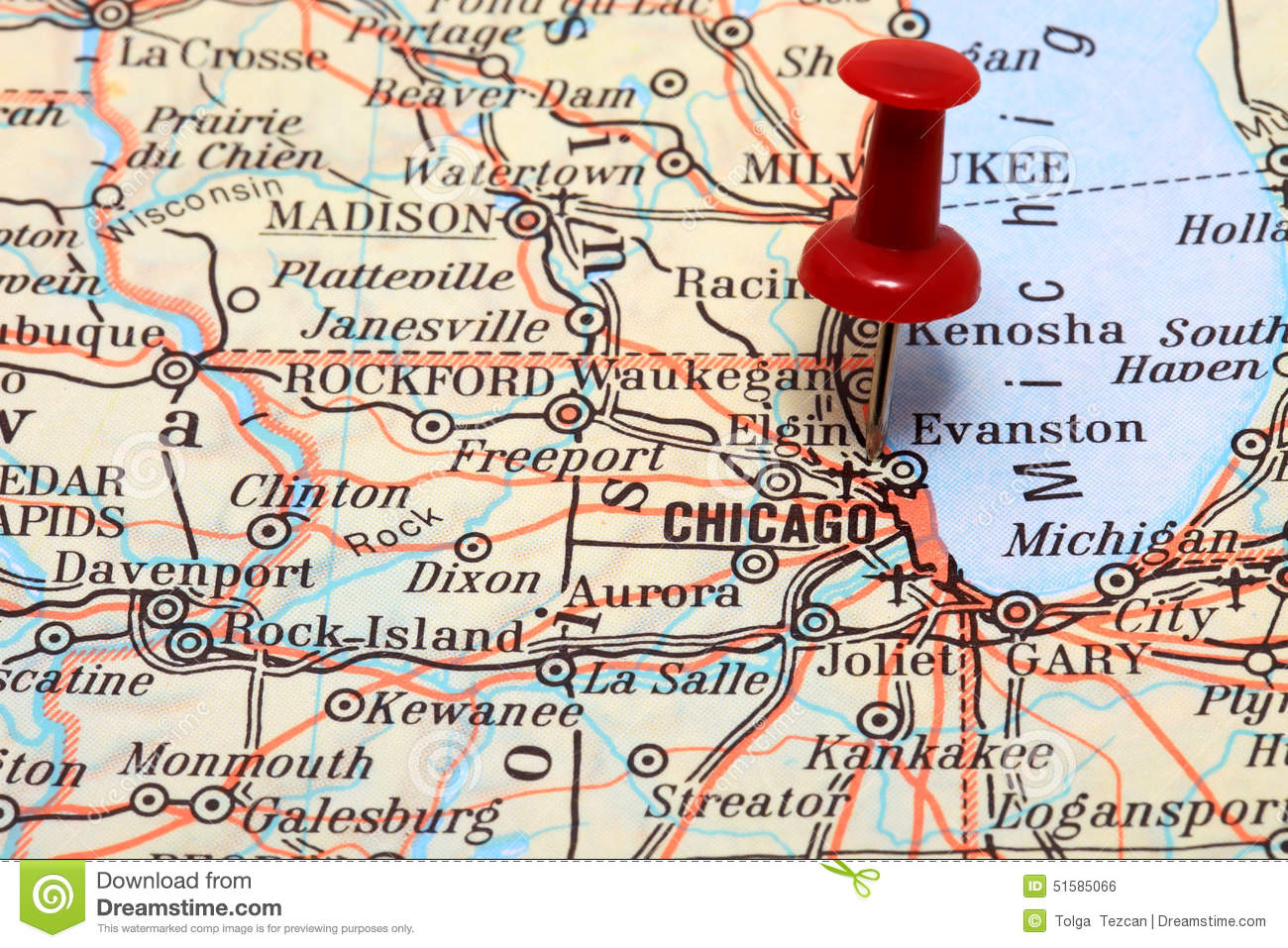 Chicago Illinois Usa Map Bnhspinecom - Chicago-on-the-us-map