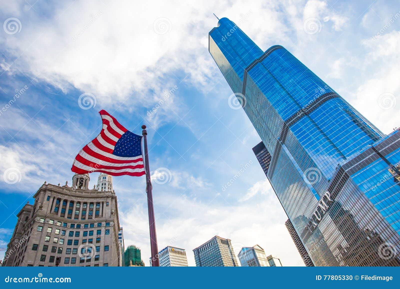 Chicago van de binnenstad