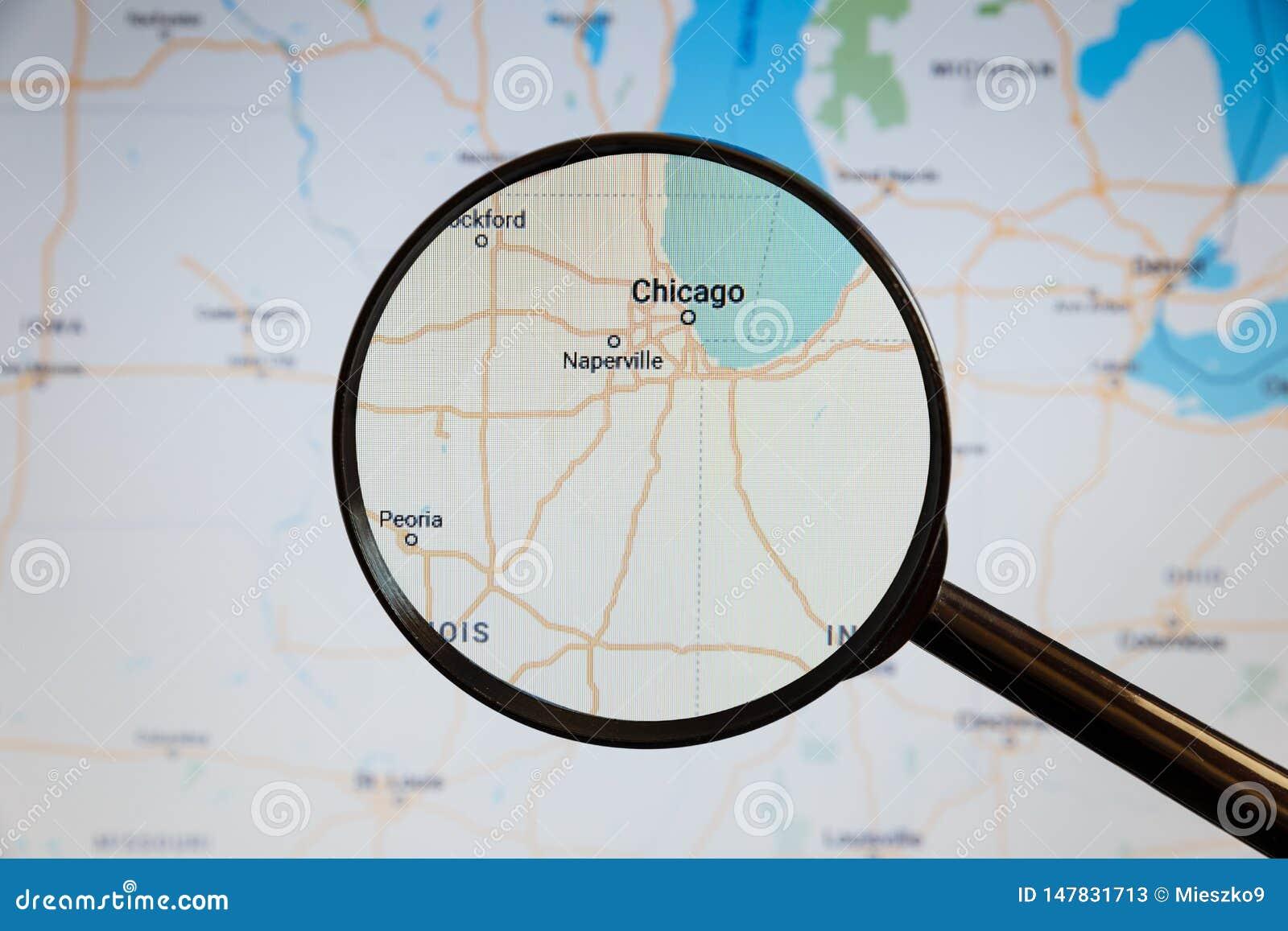 Chicago, Verenigde Staten politieke kaart