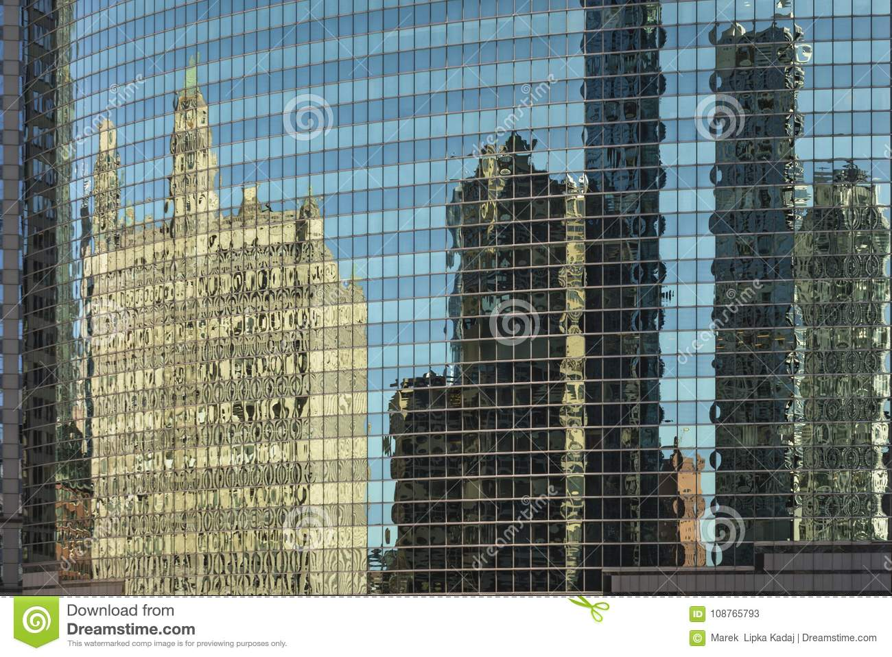 Chicago in a window stock image. Image of frame, dreamy - 108765793