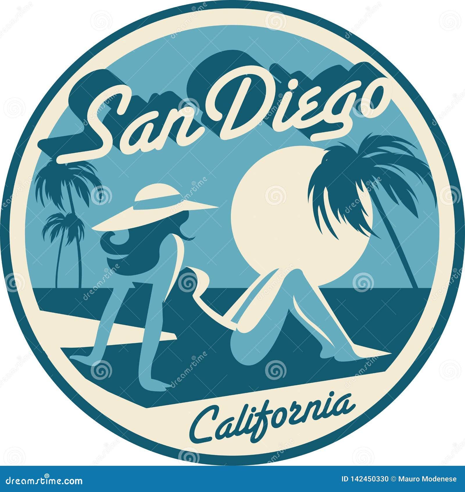 San Diego California postcard