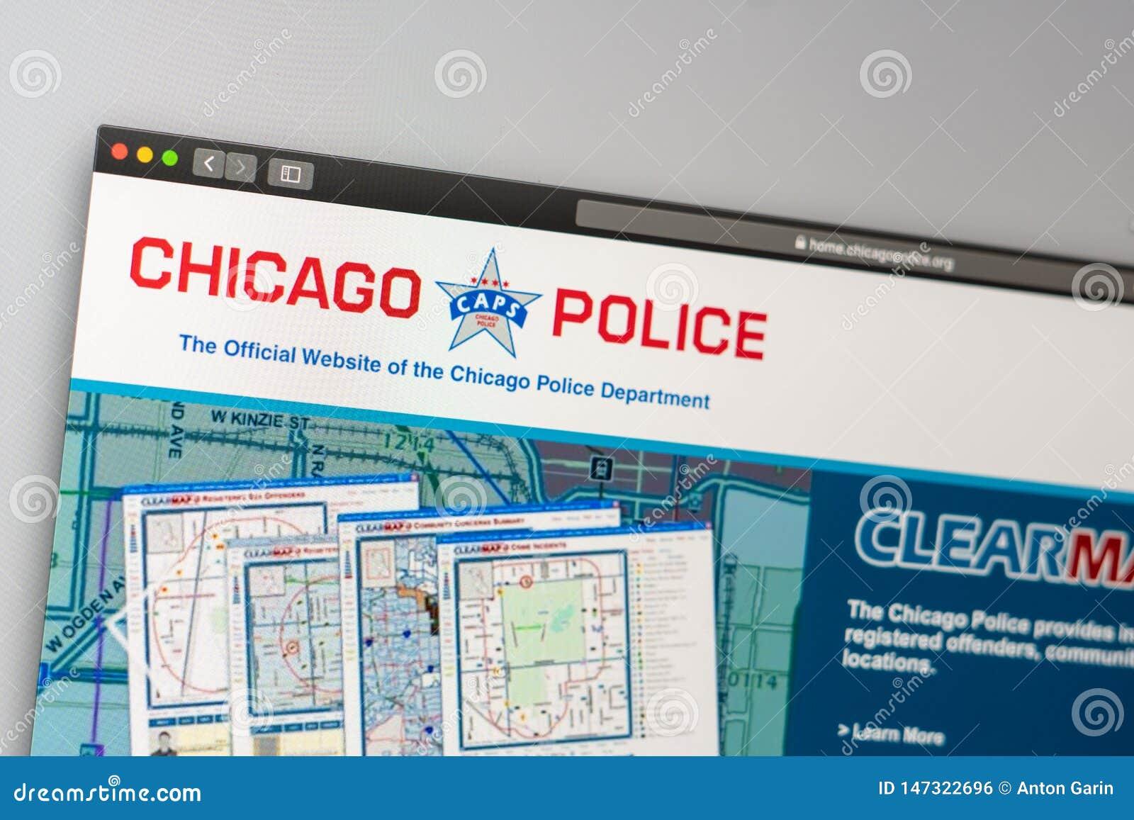 Chicagowski departament policji strony internetowej homepage r