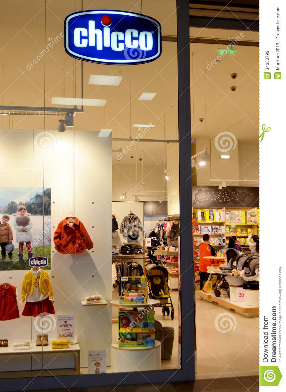 Retail outlet of the famous kids store Chicco in a shopping mall in ...
