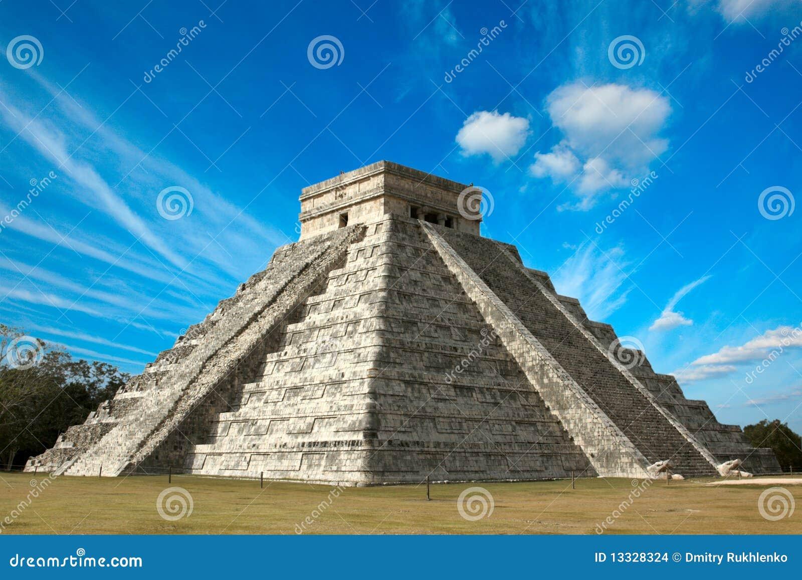 Chichen itza majskiego Mexico ostrosłup