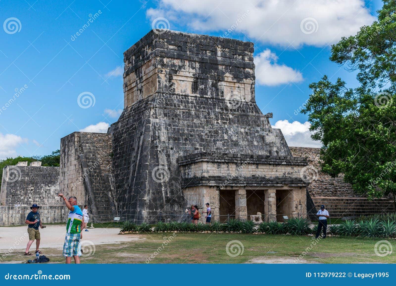 Temple of the Jaguars in Chichen Itza, Mexico