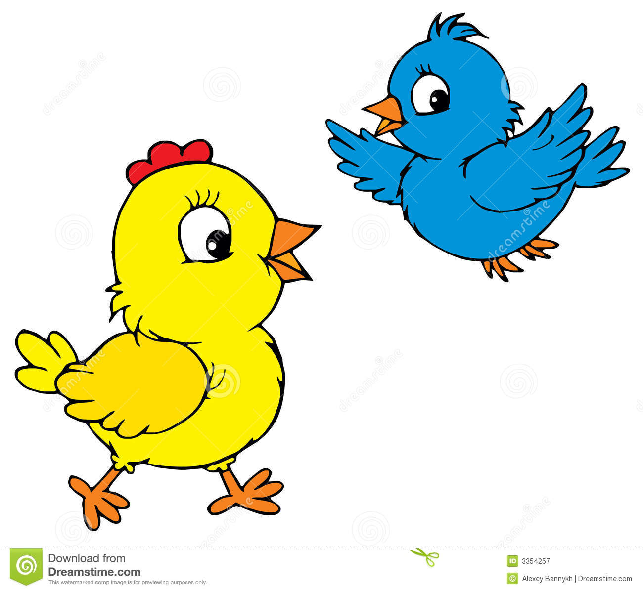 Chick And Bird vector Royalty Free Stock Photography Image