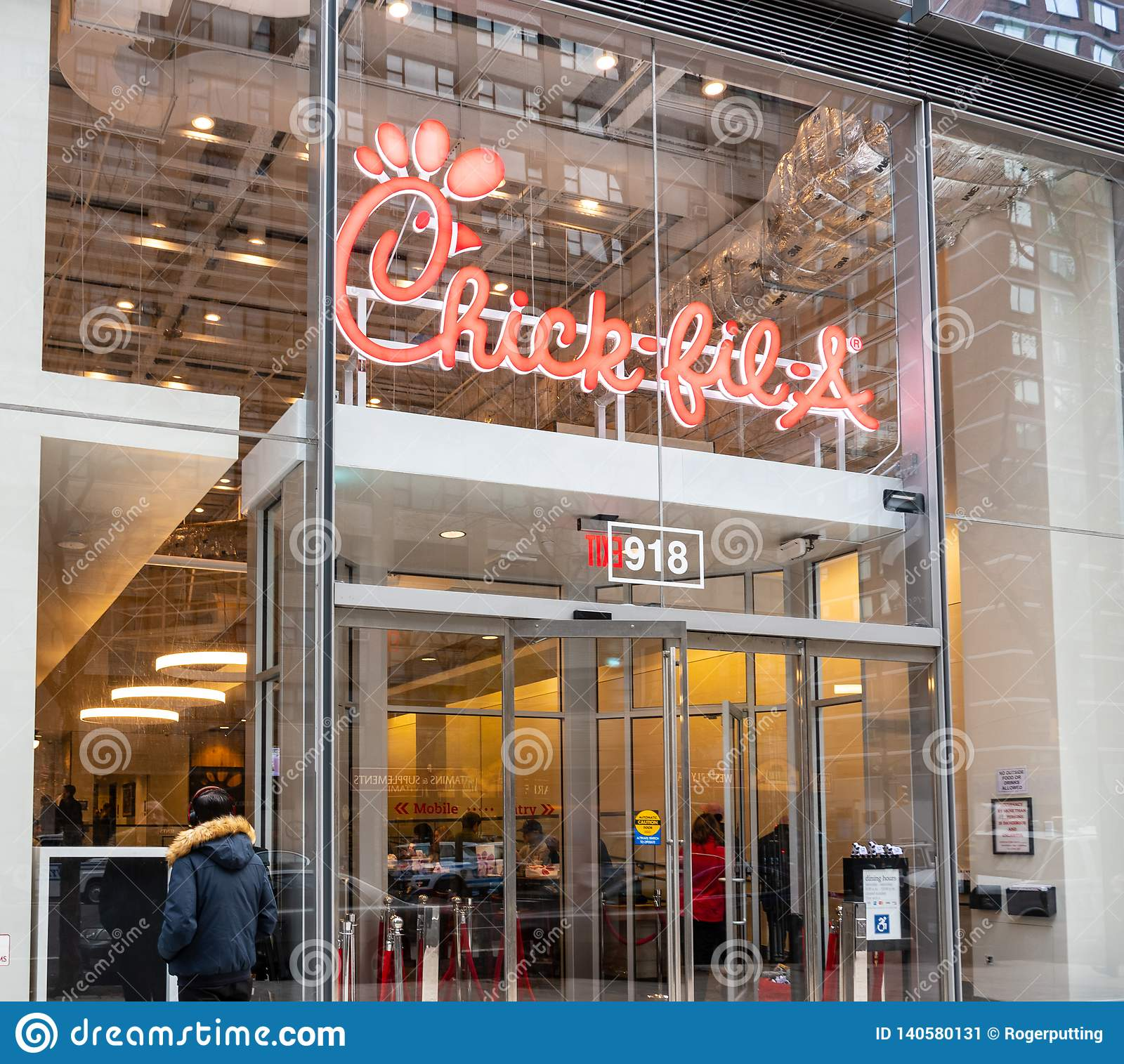 Chick-fil-A Shop Frontage New York Editorial Photo - Image ...