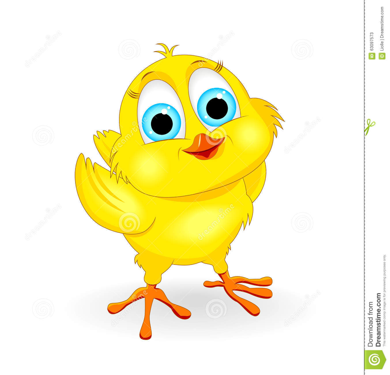 Little yellow chick on...