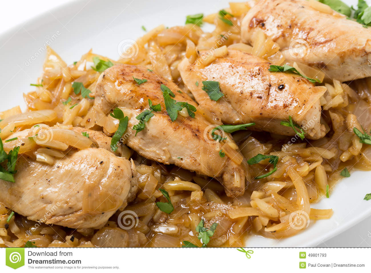 Chicken In Almond Sauce Closeup Stock Photo - Image: 49801793