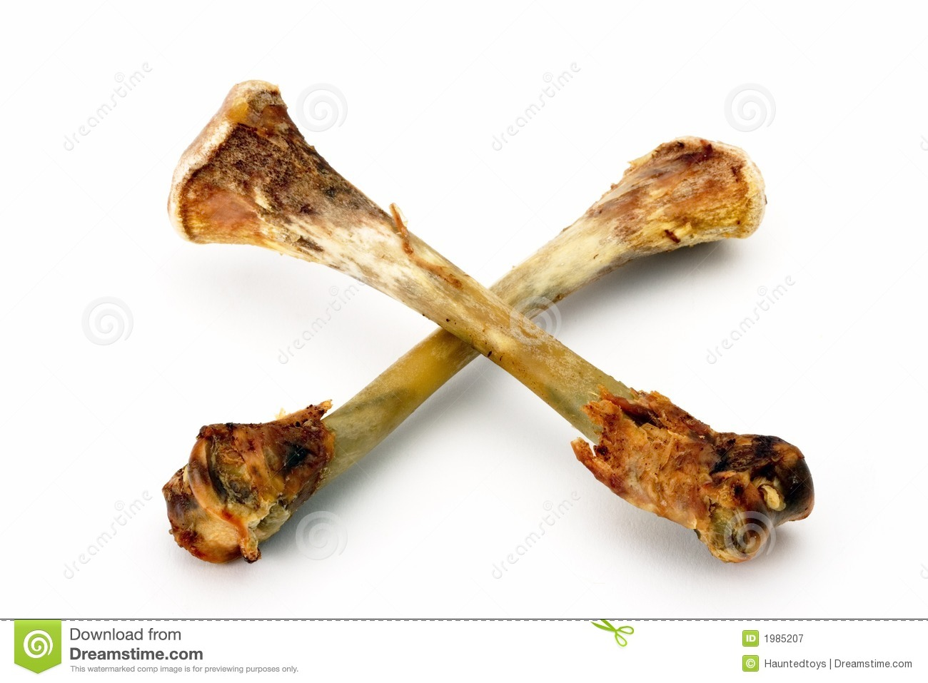 Chicken Bones Royalty Free Stock Photography