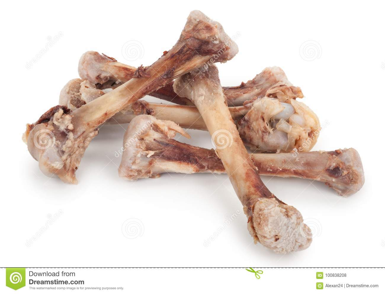 Chicken Bones Stock Photo  Image Of Fried  Chicken  Food